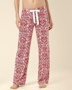 Soma Intimates Embraceable Pajama Pant Baroque Ruby #somaintimates #mysomawishlist