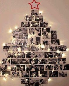 Já montou sua árvore de Natal? Ainda não?! Então que tal essa ideia como inspiração recordar os bons momentos vividos ao longo do ano sem gastar muito ocupando pouco espaço além de fica superrrrrrr original! #inspiração #natal #árvoredenatal #ideiadearvoredenatal #fotografia #recordações #diy