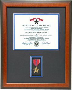 military memories and more bronze star certificate frame 11000 http