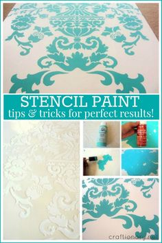 Common mistakes to avoid when stencil painting..