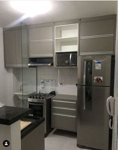 Image may contain: indoor Kitchen Room Design, Home Room Design, Kitchen Sets, Home Decor Kitchen, Interior Design Kitchen, Kitchen Furniture, Clever Kitchen Storage, Contemporary Kitchen Design, Cuisines Design