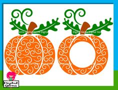 Swirly Pumpkin SVG Cutting Files For Cricut Design Space, DFX Cutting files for…