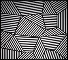 PART OF WALL DRAWING #565, SOL LEWITT, 1988, INDIA INK