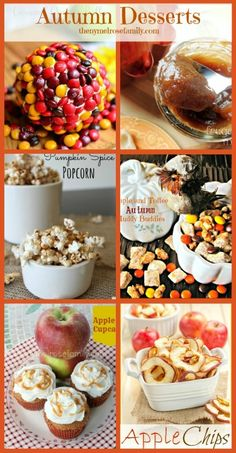 Autumn Desserts - a round-up via The NY Melrose Family
