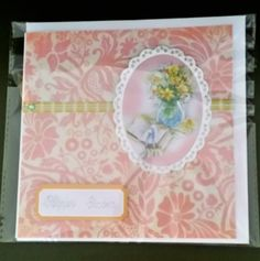 """Easter Decoupage Card 6"""" x 6""""  handcrafted by Prettythings20 on Etsy"""