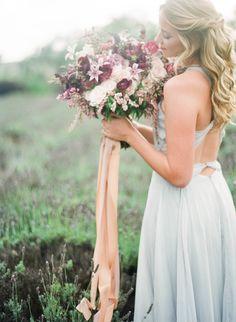 Photography: Jennifer Kulakowski - www.jenniferkulakowski.com   Read More on SMP: http://www.stylemepretty.com/california-weddings/2015/09/24/romantic-lavender-field-inspiration-session/