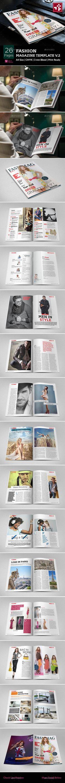 Fashion Magazine Template   #magazinetemplate #magazinedesign #fashionmagazinetemplate   Download: http://graphicriver.net/item/fashion-magazine-template-v2/10199166?ref=ksioks