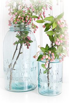 I'm adding the Atlas blue jars to my antique/junk store finder list...Aren't they beautiful?