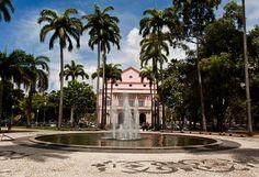 Praça da República, Teatro Santa Isabel ao fundo. Recife - Pernambuco - Brasil