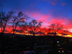 Gorgeous sunset. Near Mesa State University - Grand Junction, CO