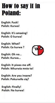 Ako sa naucit za minútu po polsky :D - ok. Polish To English, Learn Polish, Polish Words, Polish Language, Poland Travel, Polish Recipes, My Heritage, Teaching, Writing