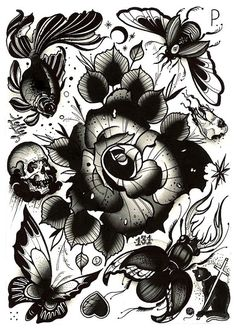 Pari Corbitt Tattoo Art Flash Sheet 10