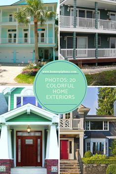 20 colorful home exterior ideas #homedesign #exterior