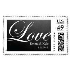 Chalkboard Inspired LOVE Wedding Postage