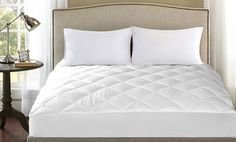 """Fully elasticized to keep it from moving, quilted mattress pad fits mattresses up to 17"""" thick"""