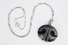 Dog Nose Necklace Personalized in Sterling Silver Large by rockmyworldinc on Etsy https://www.etsy.com/listing/152888685/dog-nose-necklace-personalized-in