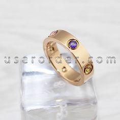 Cartier Love Ring, Cartier Love Bracelet, Gemstone Colors, Gemstone Rings, Rings Online, Happy Women, Set Design, Pink And Gold, Fingers
