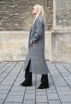 Karo Mantel für den Herbst by Edited - mehr Trends und Mode Stylings/ Stils auf meinen Mode Blog Sandra Levin