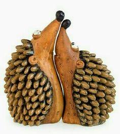 ~Beautiful Wooden Hedgehog's~