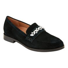 Women's Vionic Avvy Loafer - Black Suede Loafers