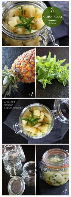Ananas, menthe & sirop d'érable. #battlefood9 #sansgluten #glutenfree  www.reglisse-et-marmelade.fr ©reglisseetmarmelade