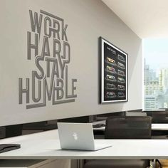 Work Hard Stay Humble Office Wall Sticker