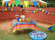 Pool Party Birthday Party Ideas | Photo 1 of 34 | Catch My Party