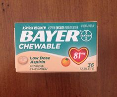 Bayer Chewable Low Dose 'Baby' Aspirin 81 MG Tablets Orange 36 Tablets | eBay