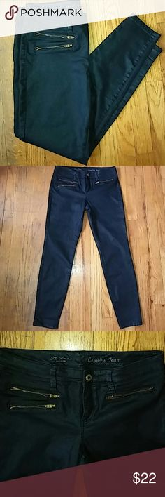 Today only The Limited denim legging jean Denim legging jean from Limited; nwot; great quality and fit; color black with shimmer; size 10; true to size; The Limited Jeans