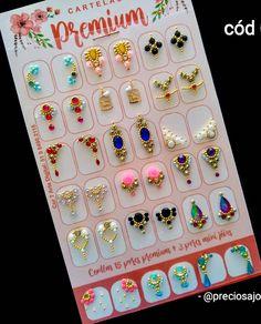 Gem Nails, Bling Nails, Nails Design With Rhinestones, Envelope Punch Board, Bridal Nails, Nail Art Diy, E Design, Pedicure, Nail Art Designs