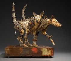Creatures Of Curiosity - Made from wood, metal, cloth, foam and found objects. By Geoffrey Gorman.