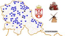 Mapa - Dvorci i letnjikovci Vojvodine Ww W, Google, Projects, Blue Prints, Tile Projects