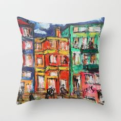 Happy Street Throw Pillow by sladja - $20.00 My Design, House Design, Throw Pillows, Street, Happy, Toss Pillows, Cushions, Decorative Pillows, Ser Feliz