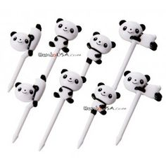 Japanese Bento Accessory Food Pick Panda 3D food picks 8 pcs