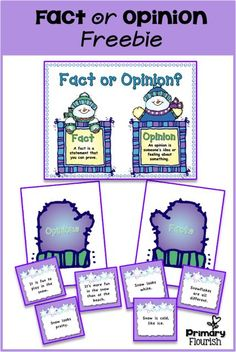 This freebie will be a great addition to your Literacy workstations! This language arts activity will help your students identify Facts from Opinions. This is such an important reading comprehension skill for the kiddos - it helps develop discernment in all areas of their lives. Just because someone said it, or it was on TV, does not make it a fact! This center includes: •Fact/Opinion Anchor Chart •Sorting Sandcastles •Fact cards •Opinion cards •Recording Sheets