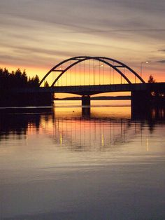 Bridge in Punkaharju, Finland