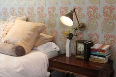Aimee & Todd's Relaxed Chic Home House Tour- love that wallpaper!