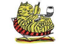 """Smoking Cat"" by Edward Bawden"