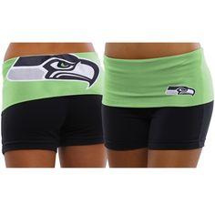 Women's Seattle Seahawks Nike Neon Green/Navy Blue Home & Away V-Neck Tri-Blend T-Shirt