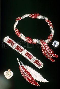 de la Duquesa de Windsor:  Rubies and Diamonds #jewelry