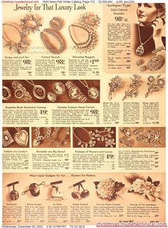 Jewelry Ads, Vintage Jewelry, Vintage Clothing, Vintage Outfits, Vintage Fashion, Christmas Catalogs, Diy Supplies, Vintage Ephemera, Fashion Plates