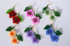 Orecchini di perline orecchini fiore donne dono Beaded gioielli fatti a mano fiore rosa orecchini regalo per il suo regalo fidanzata