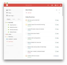 Todoist Routines - setting up recurring daily, weekly, monthly tasks. Integrating GTD with your to-do list.