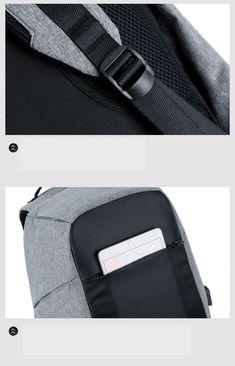 d592afcadad5 59% СКИДКА|Мужской рюкзак с защитой от кражи, рюкзак с USB подзарядкой для  ноутбука размером 15,6 дюймов, многофункциональный водонепроницаемый  дорожный ...