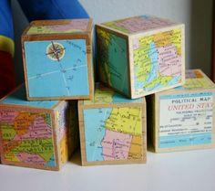 Oh, the Places You'll Go! 16 Awesome Map Decor Ideas For the Nursery - Wooden Baby Blocks