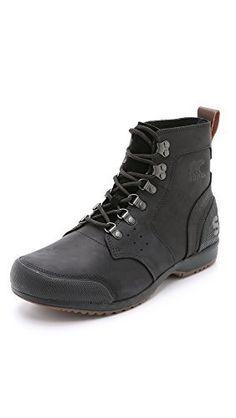 Sorel Ankeny Mid Hiker Boot - Men's Black / Tobacco 9.5 - http://authenticboots.com/sorel-ankeny-mid-hiker-boot-mens-black-tobacco-9-5-2/