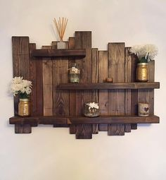 Floating distressed shelves wall mounted shelf by Allthingzrustic – Schwimmendes Wandregal von Allthingzrustic – Rustic Wall Shelves, Solid Wood Shelves, Wood Wall Shelf, Floating Wall Shelves, Wall Mounted Shelves, Rustic Walls, Wooden Shelves, Pallet Wall Shelves, Rustic Wood Wall Decor