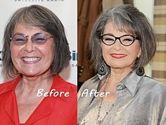 Roseanne Barr's new frames make all the difference. Roseanne Barr, New Glasses, Gray Hair, Frames, Journey, Style, Fashion, Swag, Moda