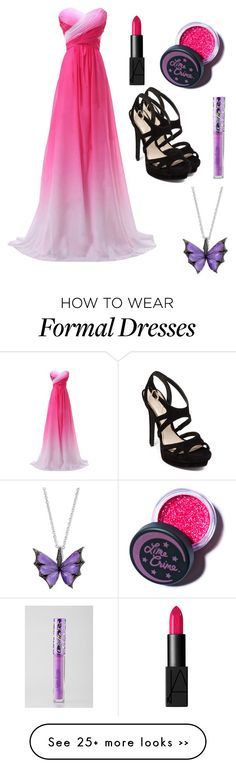 """""""Prom outfit?"""" by angelbunnie on Polyvore featuring Jessica Simpson, NARS Cosmetics, Lime Crime and Stephen Webster"""