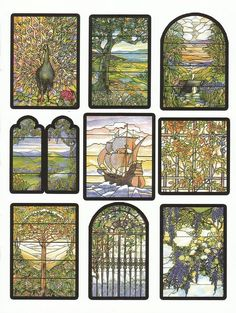 Awesome Tiffany Designs Stained Glass Coloring Book Gallery ...